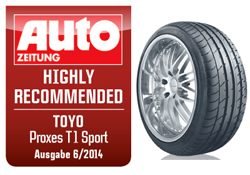 Toyo ProxesT1 Sport raccomandato da Auto Zeitung